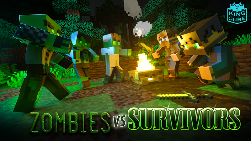 Zombies VS Survivors on the Minecraft Marketplace by King Cube