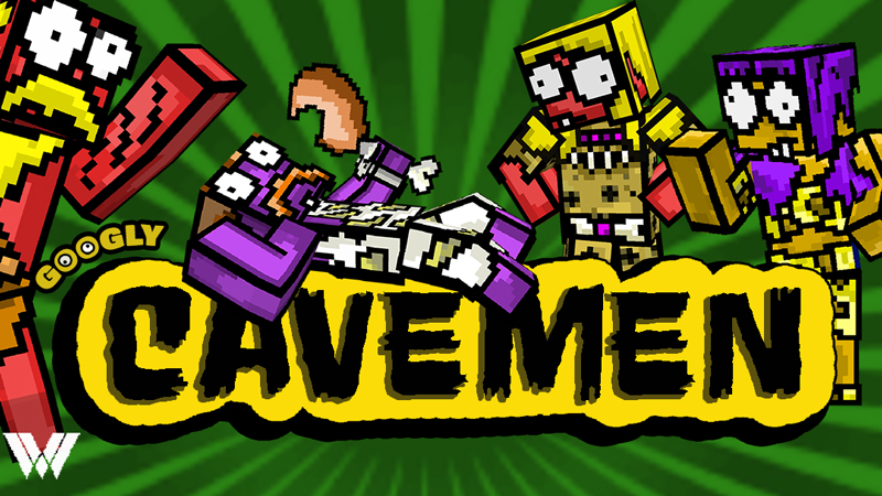 Googly Cavemen on the Minecraft Marketplace by Wandering Wizards